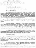 2013/76 (Siyasi Parti Mali Denetimi), K: 2014