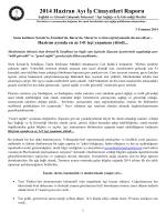 2014 Haziran Ayı İş Cinayetleri Raporu