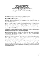 Bilindiği üzere, Bakanlığımızın kooperatifçilikle ilgili fonksiyon ve