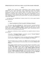 Şifresi Kilitlenen Muhtarlara Parola Oluşturma Hakkı Verilmesi