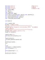 Infix to Postfix C Codes PDF Download