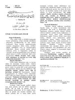 İLİ : AMASYA - Bitlis İl Müftülüğü