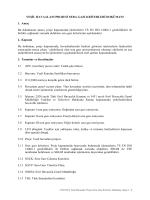 Yeşil Havaalanı Projesi Sera Gazı Kriterleri Dokümanı