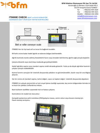 BFM Makina Otomasyon İth San Tic Ltd Şti