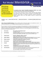 Workshop - SUPREME mentoring