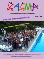 Kaçma – 81. Sayı - İTÜ İşletme Mühendisliği Kulübü