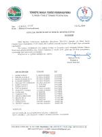GENÇLER KAYSERİ - Türkiye Masa Tenisi Federasyonu