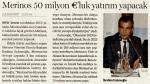 Merinos 50 milyon Gluk yatırım yapacak