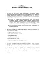 Komisyon 7 Özel Eğitim Komisyonu Kararları