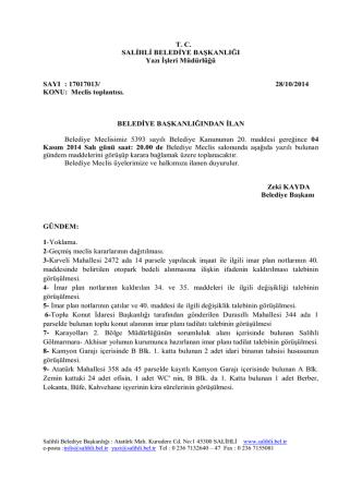 28/10/2014 KONU: Meclis toplantısı. BE