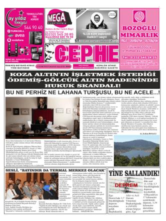 13.09.2014 Tarihli Cephe Gazetesi