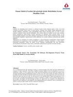 Finans Sektörü Yazılım Süreçlerinde Şelale Modelinden Scrum