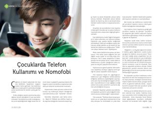 Çocuklarda Telefon Kullanımı ve Nomofobi