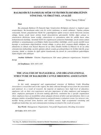 10-yavuz tansoy yıldırım - Journal of Life Economics