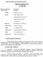IKINCI BOLUM - Resmi Gazete