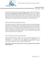 Konya İmalat Sanayi Güven Endeksi Haziran Ayı Rakamları