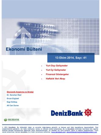 13 Ekim 2014 - Deniz Yatırım
