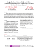 Boğaz Endüstri Madencilik Şirketi (BEM) Çimento Öğütme
