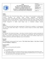 Uzman Destek Yönergesi - 36. Türk Ulusal Kulak Burun Boğaz ve