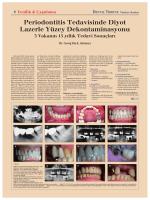 Periodontitis Tedavisinde Diyot Lazerle Yüzey Dekontaminasyonu