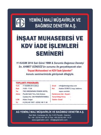 ag seminer programı 11.11.2014