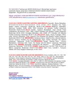 18-19.02.2014 Tarihlerinde GEDİZ EDAŞ İzmir İl Müdürlüğü