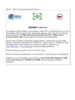 Mal Alımı için ihale ilanı Tire Organize Sanayi Bölgesi, İzmir