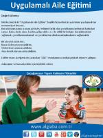 Uygulamalı Aile Eğitimi