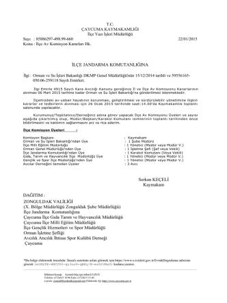 Av Komisyonu Toplantısı Duyurusu