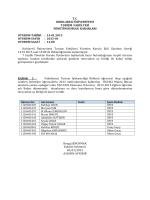 Ekonomi II dersiyle ilgili yönetim kurulu kararı