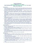 Temel İlke ve Kurallar - Yeditepe Üniversitesi