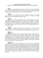 Yabancı Diller Bölümü Eğitim - Öğretim ve İşleyiş Yönergesi (PDF)