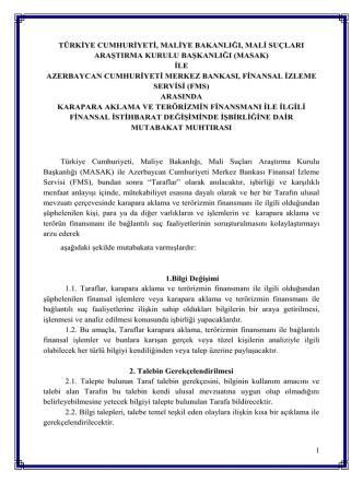 AZERBAYCAN Mali İstihbarat Birimi