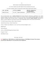 T.C. BİTLİS EREN ÜNİVERSİTESİ REKTÖRLÜĞÜ 25.12.2014