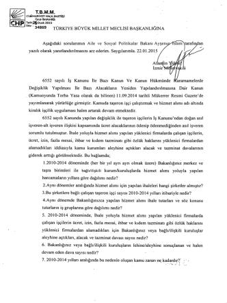 CH - Türkiye Büyük Millet Meclisi