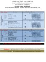 2014-2015 eğitim-öğretim yılı güz dönemi bütünleme programı