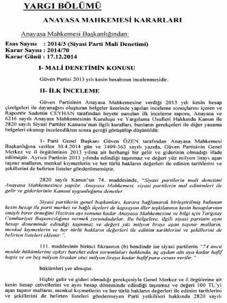 2014/3 (Siyasi Parti Mali Denetimi), K