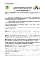 Talimatlar - İstanbul Üniversitesi   İdari ve Mali İşler Daire Başkanlığı