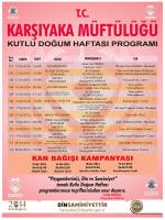 2014 yılı kutlu doğum programı.