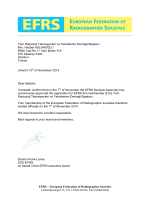 EFRS – European Federation of Radiographer Societies