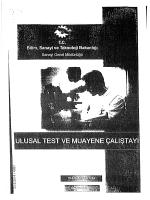 Ulusal Test ve Muayene Çalıştayı Raporu