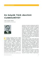 En büyük Türk devrimi: cuMHuRiYET