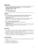 CV - Civil Engineering Department