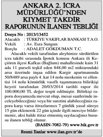 ankara 2.icra - İl Gazetesi