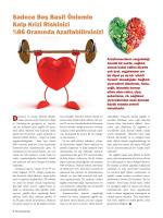 Sadece Beş Basit Önlemle Kalp Krizi Riskinizi %86 Oranında