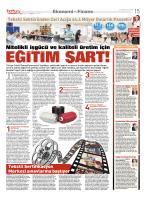 EĞİTİM ŞART! - Tekstil Sertifikasyon Merkezi