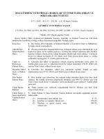 2014 gümrük ve istihsal - Merkezi Mevzuat Dairesi