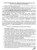 duyuru metni için tıklayınız - Trabzon Halk Sağlığı Müdürlüğü