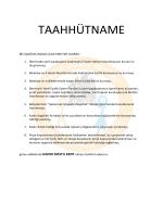 Taahutname - bos - Kadın Dostu Kentler