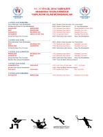 17 EYLÜL 2014 MÜSABAKA PROGRAMI